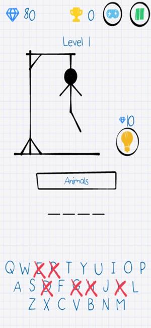上吊小人猜单词游戏中文免费版(Hangman)图片1